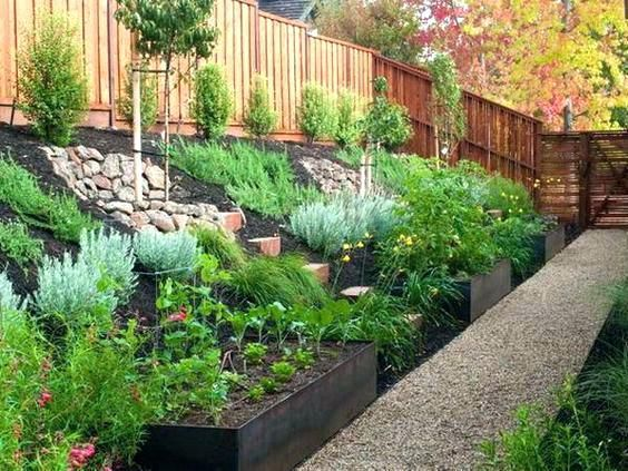 sloped backyard ideas on a budget