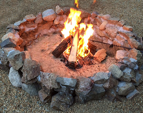 Build Your Own Rustic Rock Firepit